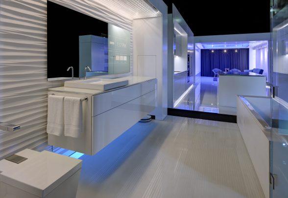 Digital spiegel in badkamer