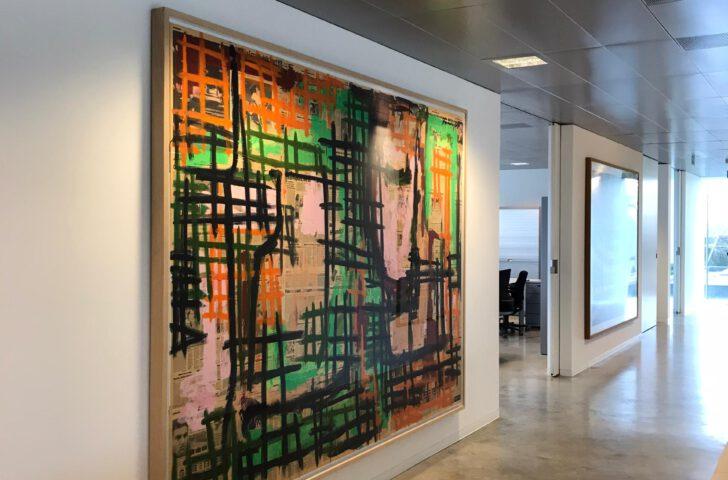 Inlijsting met Perfect White ArtProtect veiligheidsglas van museumkwaliteit